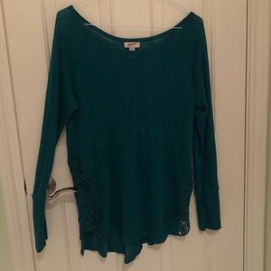 Arizona Long Sleeve Shirt with Crochet sides